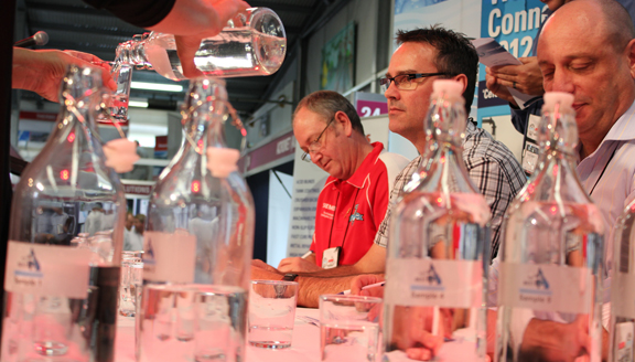 Panel judging the Best of the Best Water Taste Test finals